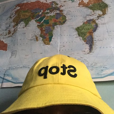 0dff78fc54a cute yellow bucket hat from storedogdog i just never wear it - Depop