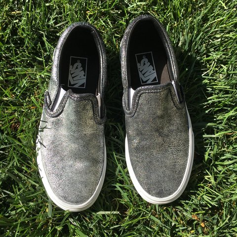 9b517eb6965c66 Unisex metallic Vans classic slip-on. 🌾👟 Men s 5.5   7. - Depop