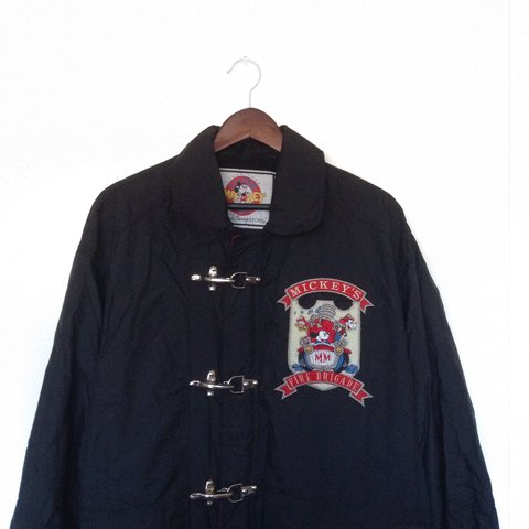 Mickey S Fire Brigade Jacket Has Some Cool Hardware Clasps Depop