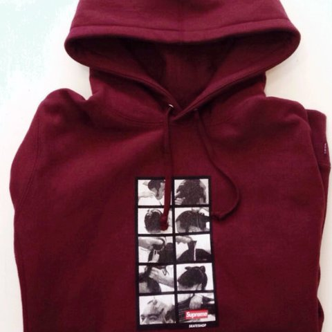 e43a523df1bb Supreme Sumo hoodie in burgundy    bought from the London + - Depop
