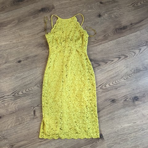 cb98839c @laura788. 6 hours ago. Birmingham, United Kingdom. Zara yellow/lime lace  dress. Perfect for weddings/races brand new with tags. 💛 size S ...