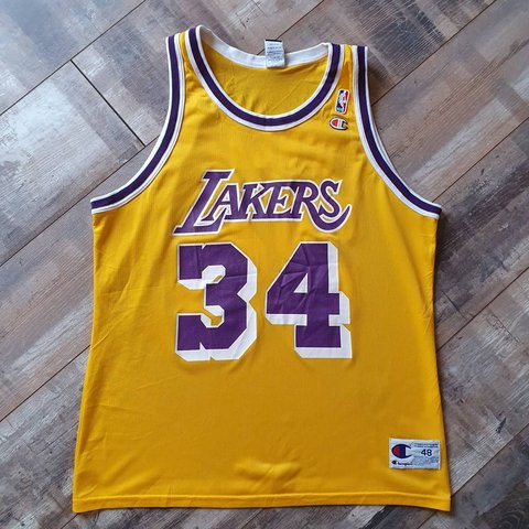 6c40c7773df Shaquille O Neal Los Angeles Lakers Jersey Size XL. £50 + TO - Depop