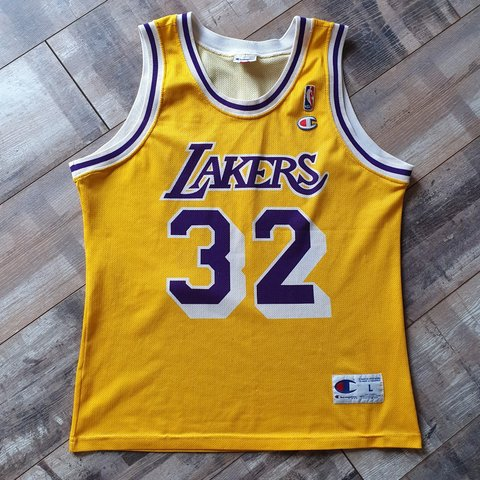 857439fb0c9 Magic Johnson Los Angeles Lakers Jersey Size Large.  OPEN TO - Depop