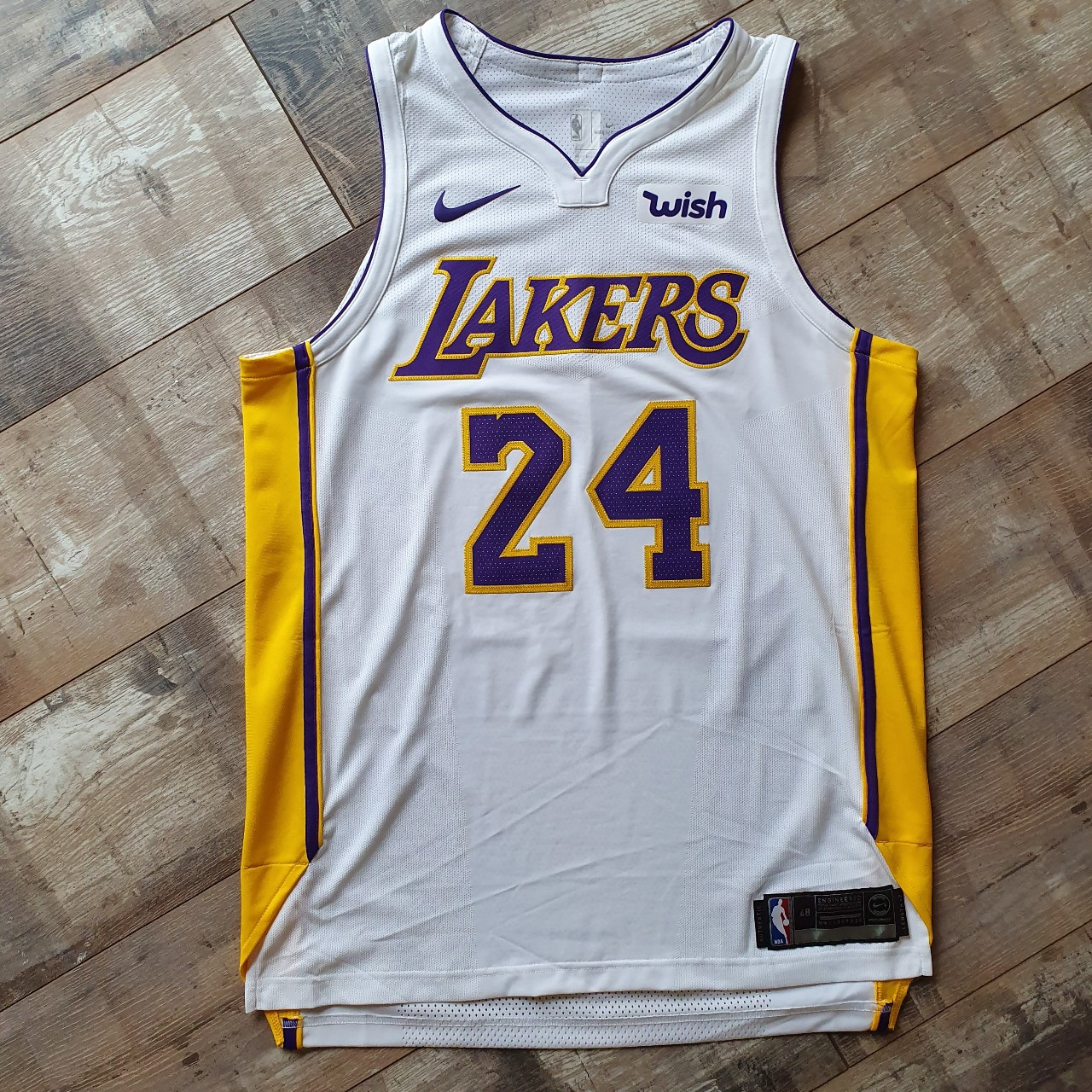 quality design 1ee59 66003 Kobe Bryant Authentic Los Angeles Lakers Jersey Size ...