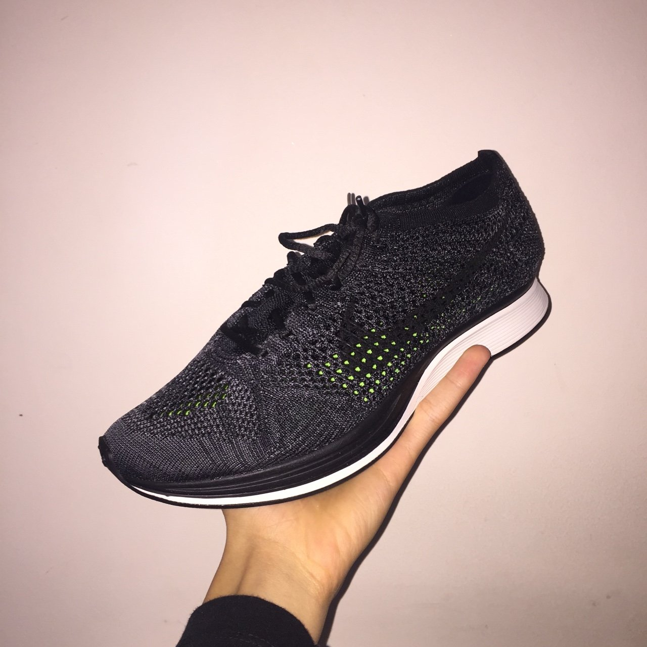 release date 96573 3d33b Nike Lab Flyknit Racer Blackout, Deadstock with receipt. For - Depop