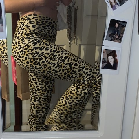11a68634f749 @katielouiseie. 2 months ago. Didcot, United Kingdom. Topshop leopard print  flares ...