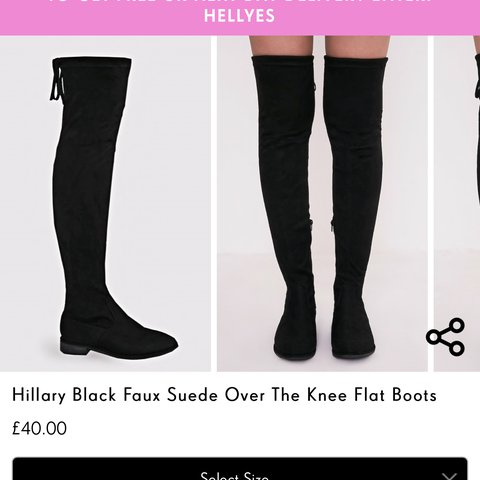 d8dab505375 PRETTY LITTLE THING - black knee high boots -✨ worn once - Depop