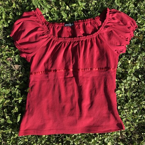 ec3a2ee03 🦋🍷 Wine Red 90s Blouse 🍷🦋 Oh