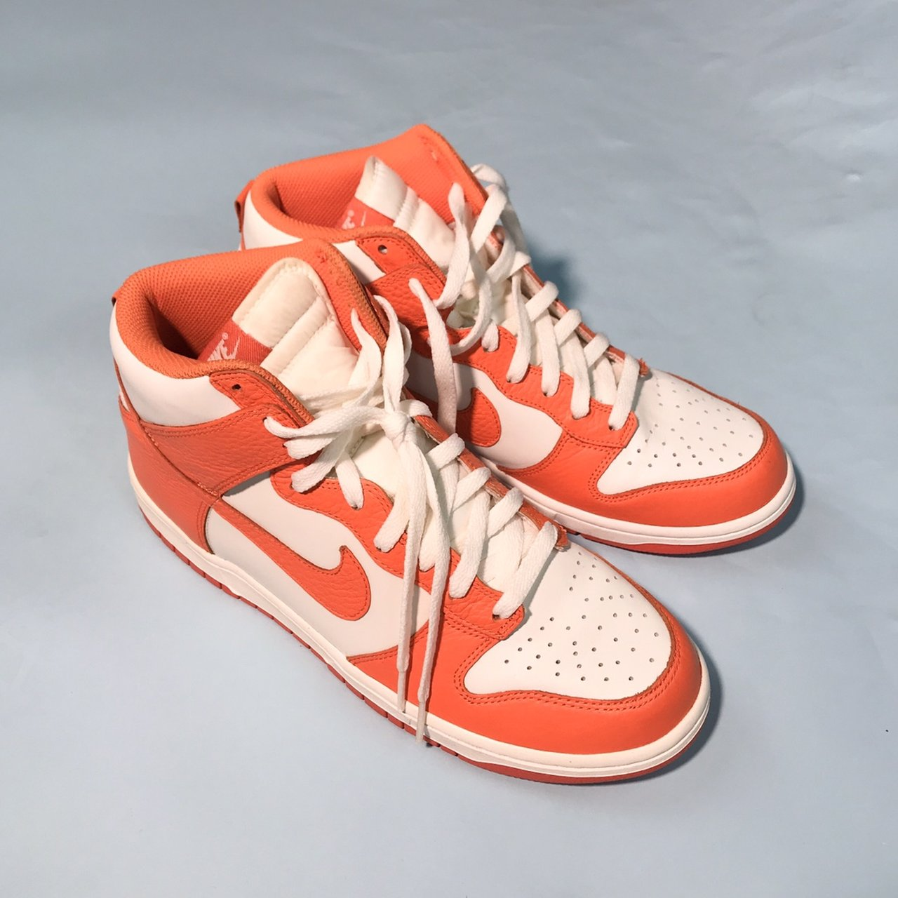 """low priced 3f851 5949a Nike Dunk High """"Be True to Your School"""" White Orange. Size - Depop"""