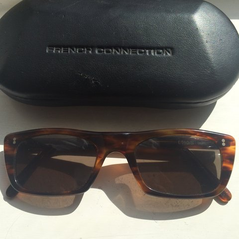 68810eedb4 Vintage French connection sun glasses.13cm wide. Dark RRP  - Depop