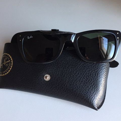60762f331214a Genuine Ray-ban black cat eye style sunglasses. Unique and - Depop