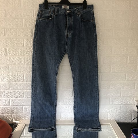 "91ba3ea87a9 Men's Levi 501 jeans Straight leg, good condition! W 36"" L - Depop"