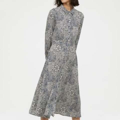 e37a0b93d1a1 @marniexbear. 7 months ago. Leeds, United Kingdom. WILLIAM MORRIS X H&M  CALF LENGTH SHIRT DRESS