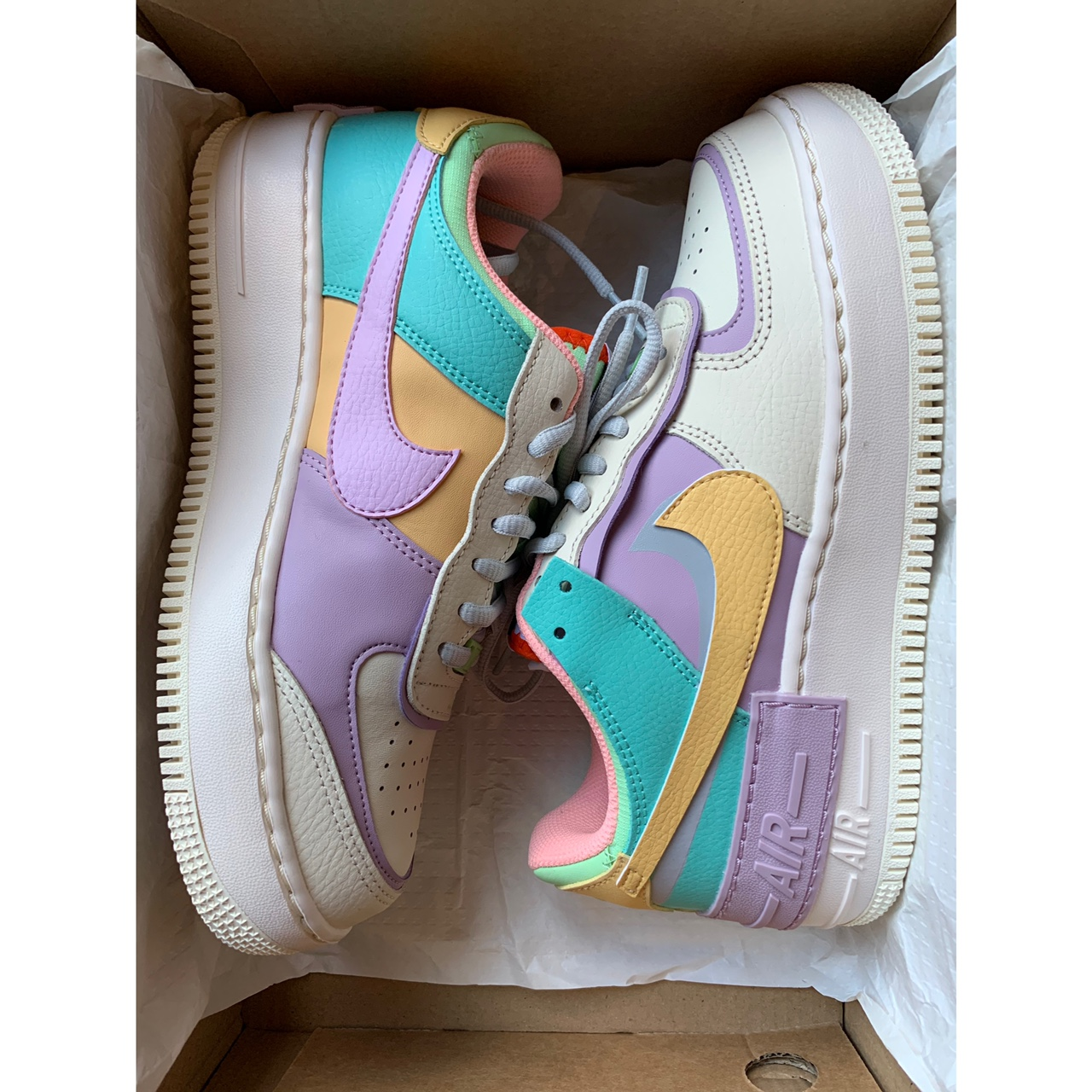 Nike Air Force 1 Shadow Pastel Trainers Uk Size 5 5 Depop