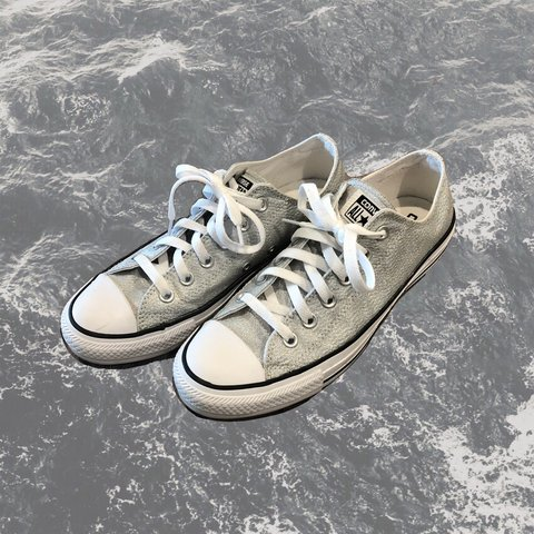 ea19efc8403d9a  l6057. in 2 hours. United States. Iridescent silver Converse Chuck Taylor  All-Star ...
