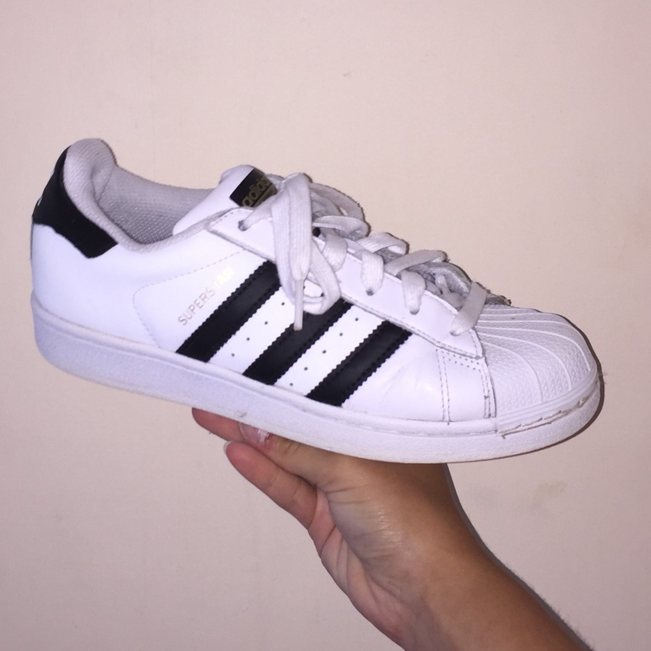 chltem. 6 months ago. United Kingdom. Adidas Superstars classic white and  black. 6677c682b
