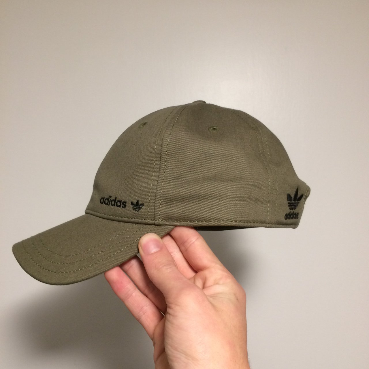 627aeac9249 worn once adidas khaki cap • mint condition like new • any - Depop