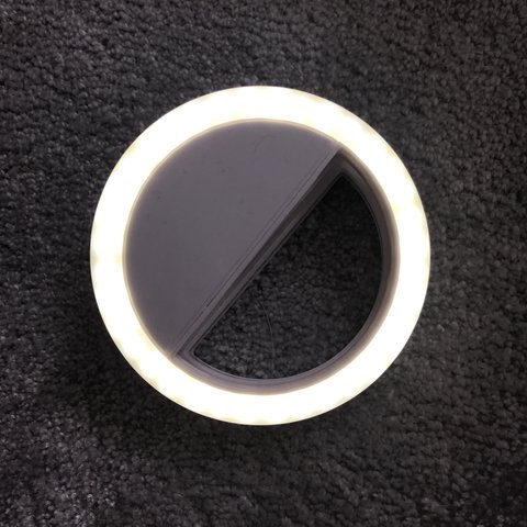 28617cb902a O Ring Selfie Light. Clips To iPhone or Android For Lighting - Depop