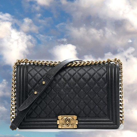 82eaf54d6b41 I've had this chanel boy bag in size new medium for about 3 - Depop