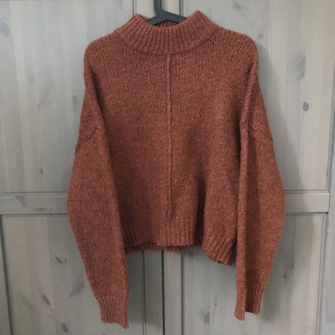 Burnt orange jumper in a size 16. I m a size 12 but bought a - Depop 97a0fced0