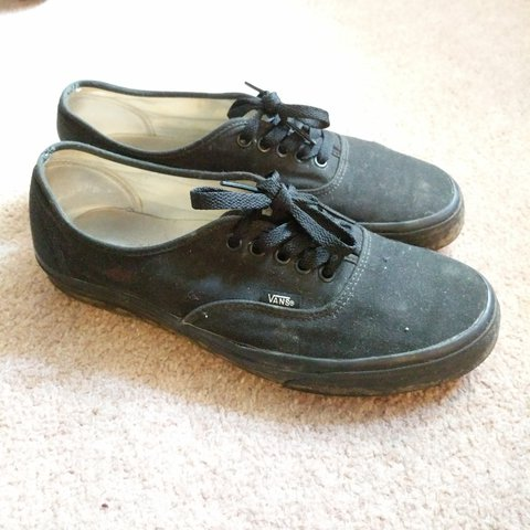 d27e84901a61 Vans Black Canvas Shoes - Size 9 UK In Good Condition  nike - Depop