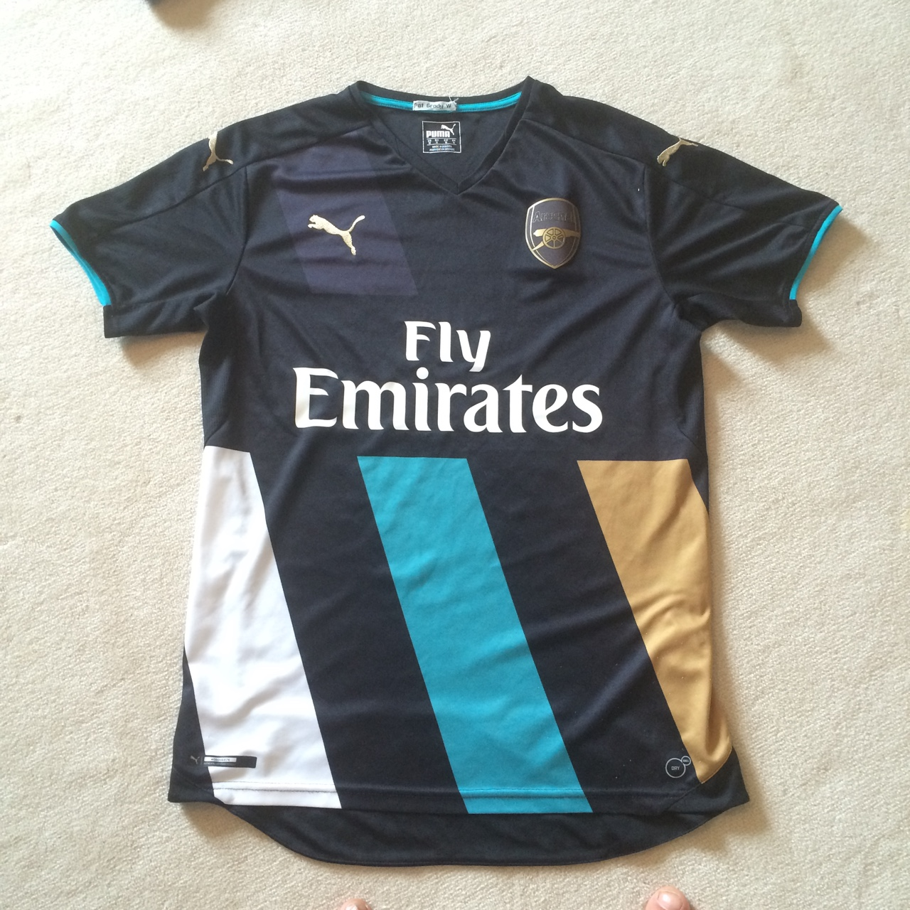 best website 09c97 bc229 Arsenal Alternate Kit 2015/16 // Black Blue and Gold... - Depop