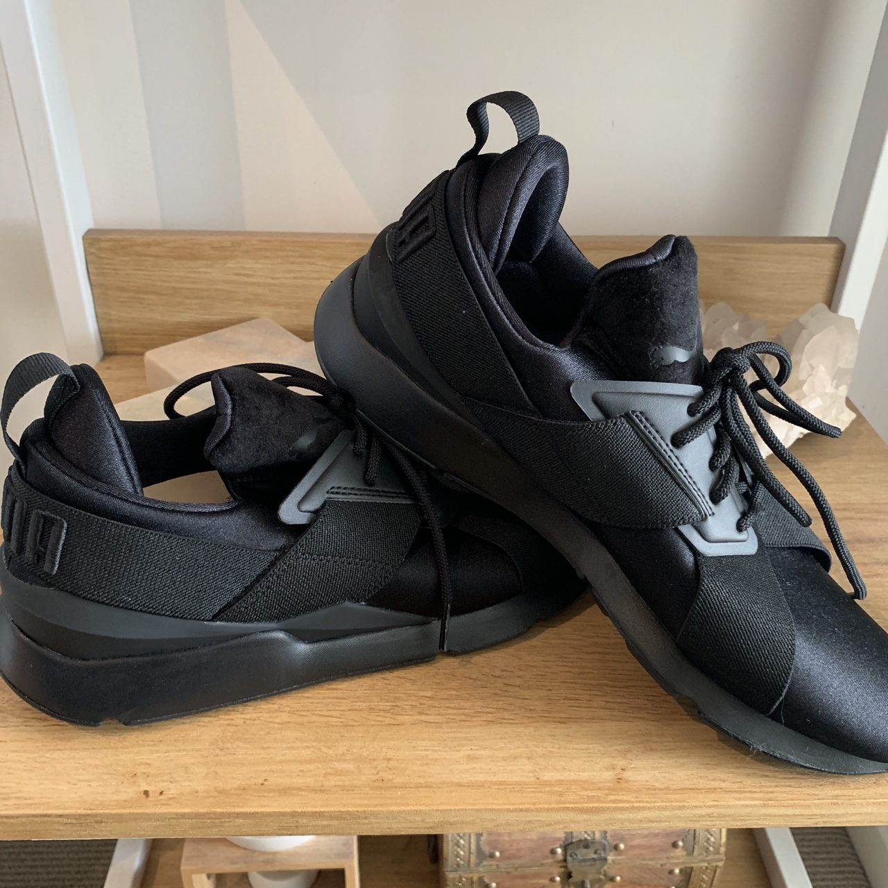 PUMA Muse Satin II Women's All black. Brand new.... - Depop