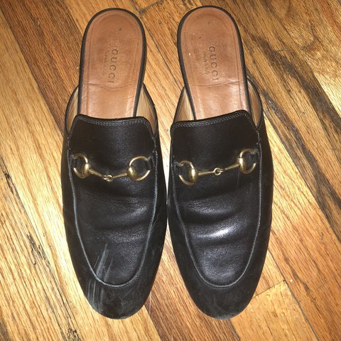 b6251ea506d gucci princetown slippers. still lots of life