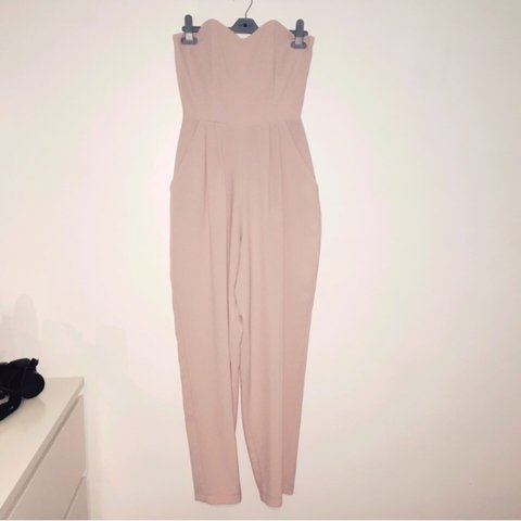 dbabffe051 Topshop Oh My Love baby pink jumpsuit with pockets on the so - Depop