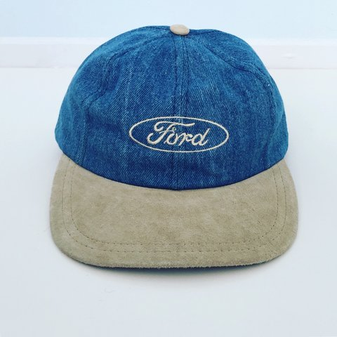 265846b706e Made in USA 90s Vintage FORD Denim   Suede Dad Hat 🚙 back