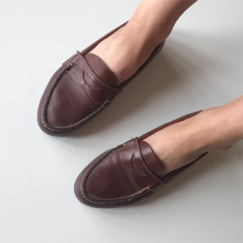 f2302664824 Vintage Dexter brown leather penny loafers 🍩 women s size