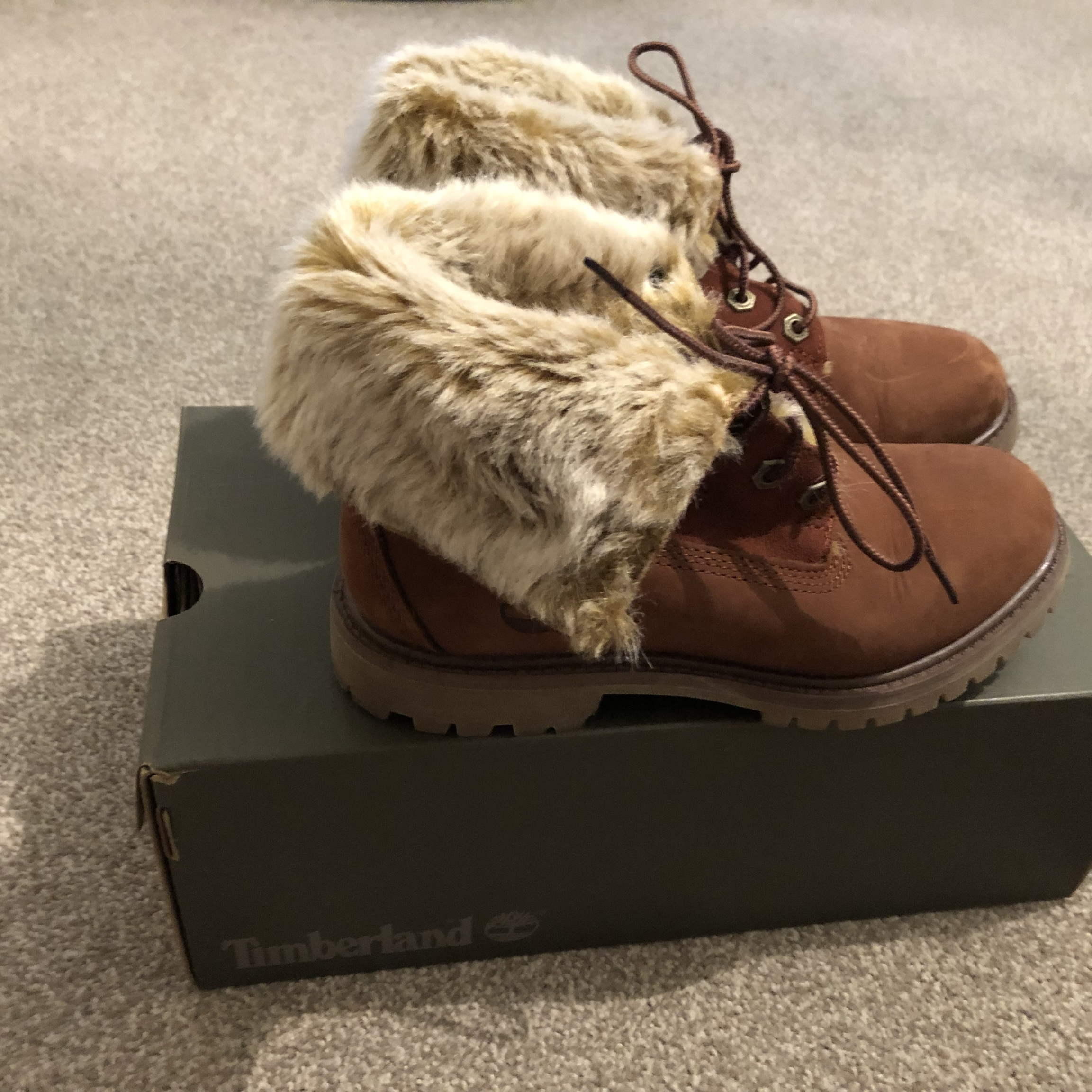 timberland faux fur