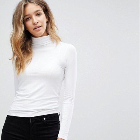 933a9c0ad61 white turtleneck/rollneck top from ASOS. brand new! never - Depop