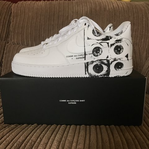 d704d850cdb63 @morganjudd. 2 years ago. Tonbridge, UK. Supreme x Comme des Garcons x Nike  Air Force 1 Low ...