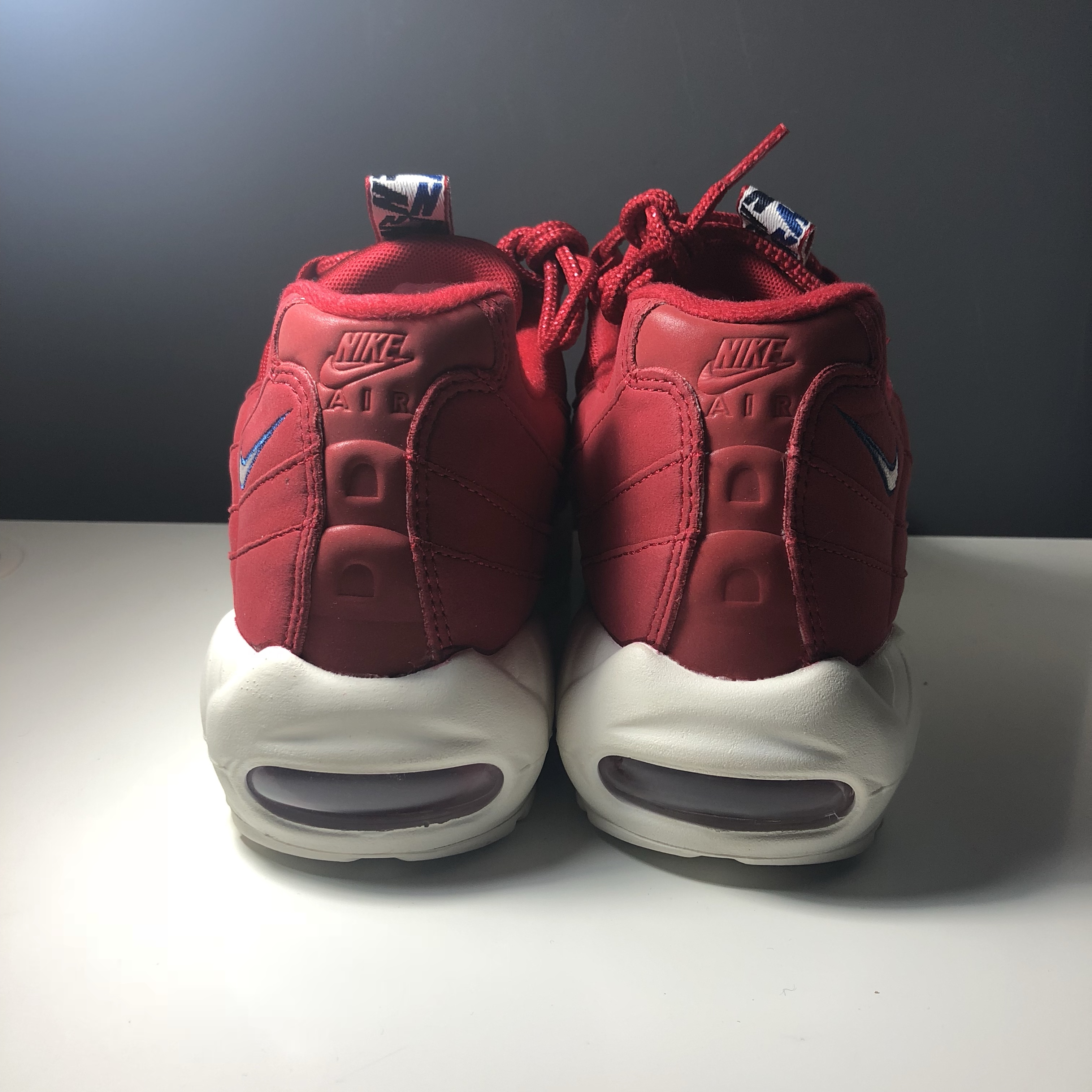 NIKE AIR MAX 95 TT 'TAPED' PACK RED WHITE SIZE 8.5 Depop