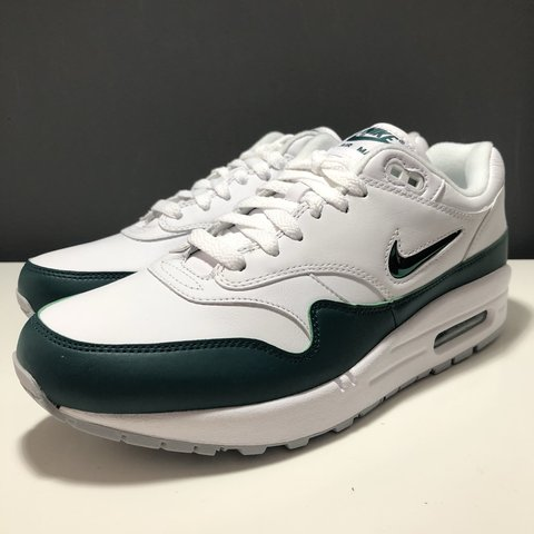 561729f0a0 @depopoutletstore. 8 months ago. Pontefract, United Kingdom. NIKE AIR MAX 1  PREMIUM SC JEWEL GREEN EMERALD