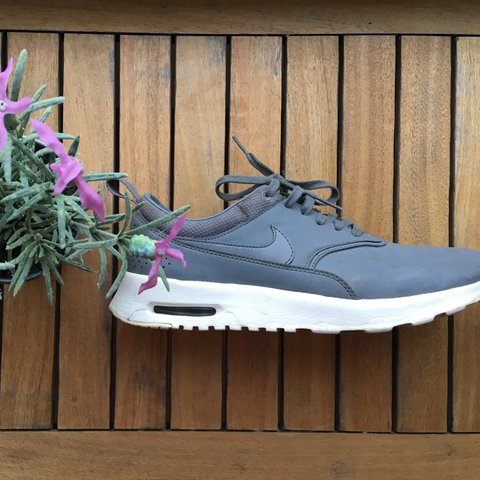 a248a6284af Nike Air Max Thea Premium in Grey Colourway with the snake a - Depop