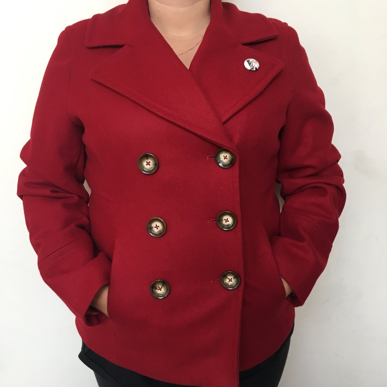 798d4d560b80 Michael Kors Red wool Peacoat. It s that PERFECT red