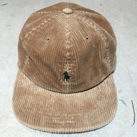 ce3c7074994 Price Drop! --- Rare Polo Ralph Lauren Corduroy Hat with and - Depop