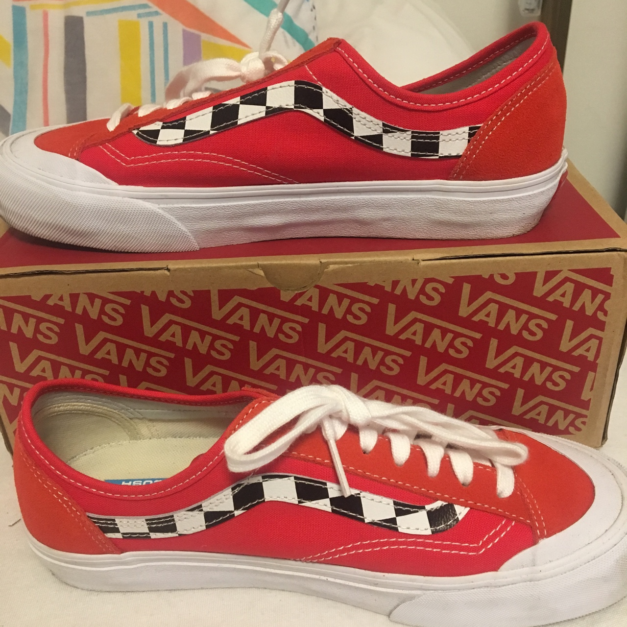 WORN ONCE VANS EXCLUSIVE RED STYLE