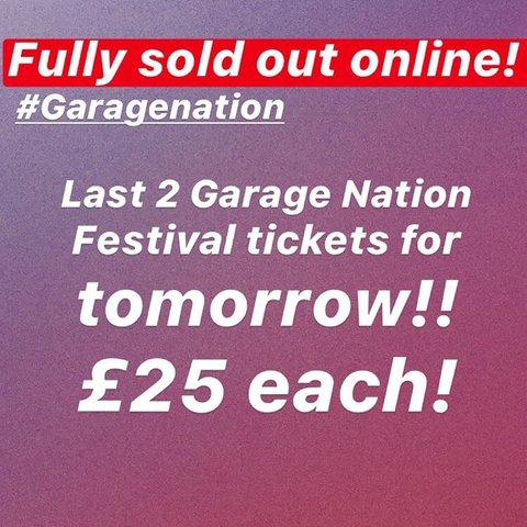X2 Garage Nation Tickets For Tomorrow No Offers Dm To Buy Depop