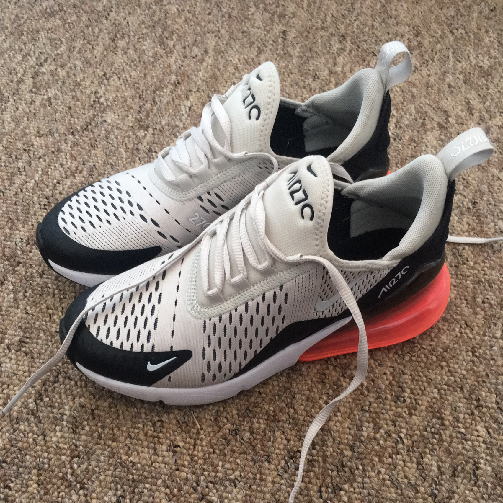 Nike Air Max 270 In Beige With Pink Bubble Bought Depop