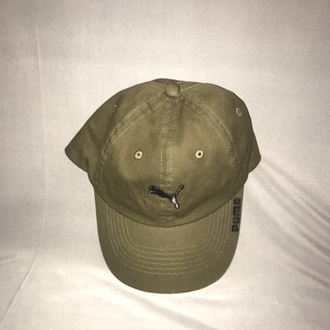 Olive green Puma baseball cap. Only worn a few times. Still - Depop 6ddde732538
