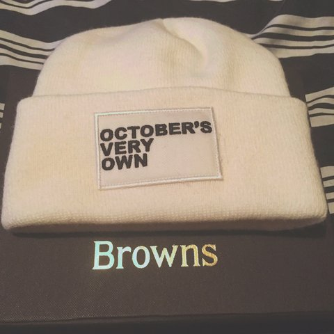 71165a7a612 Authentic   Official OVO October s Very Own white beanie hat - Depop