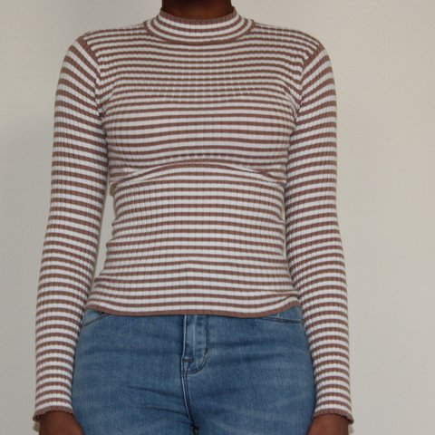 805bfb4929 @dianaosh. 2 years ago. Atlanta, DeKalb County, United States. Striped mock  neck long sleeve ...