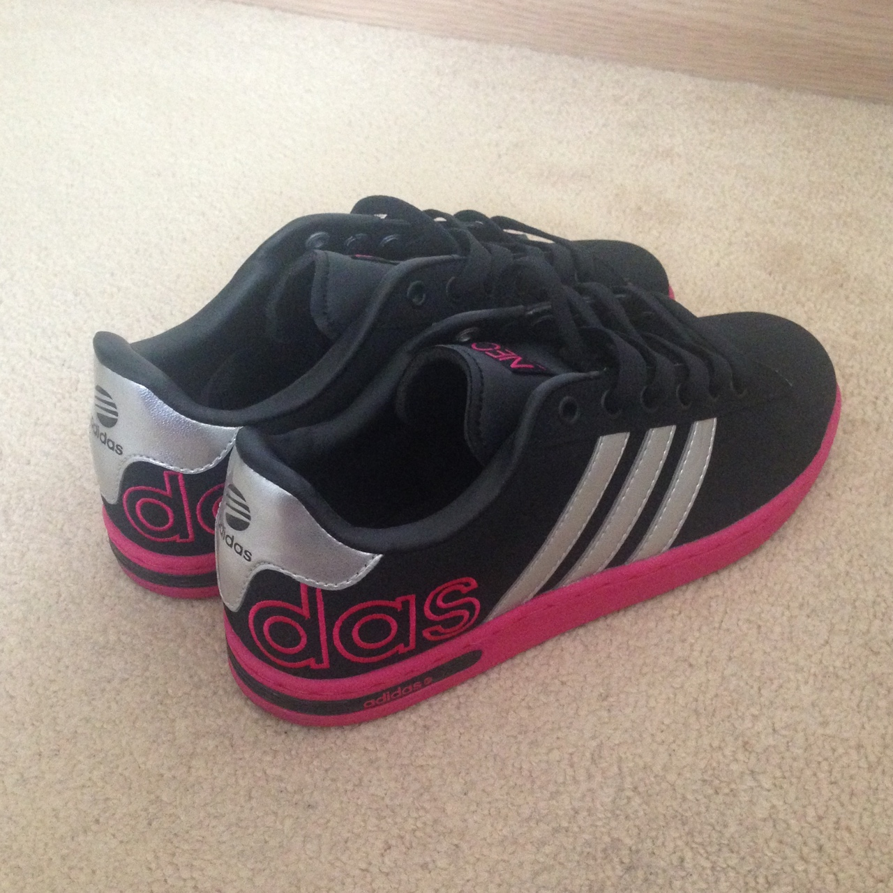 Adidas Neo Women's Trainers, Size 4, Suede. Black...
