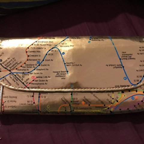 New York Subway Map Wallet.Listed On Depop By Whitneyleighh