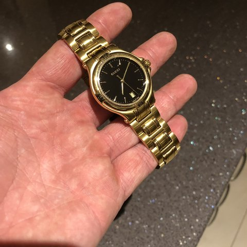 e8776c294a7 Vintage Gucci 9240 M men s watch. Fully gold plated with 4 2 - Depop