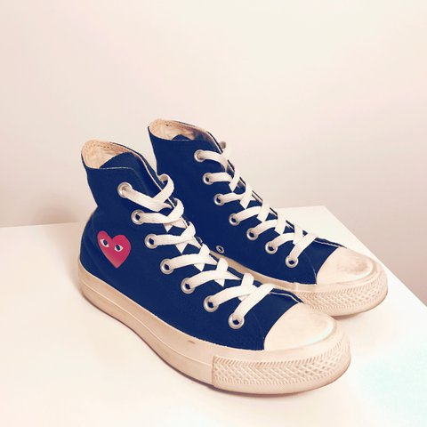 Comme Des Garcons Play Converse Size Uk 35 Worn A Of A Depop