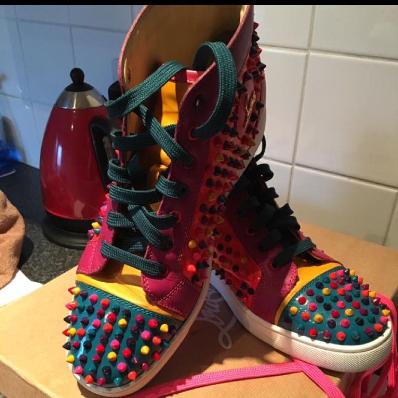 Men s CHRISTIAN LOUBOUTIN SHOES TRAINERS SIZE 9 09f03aec9056